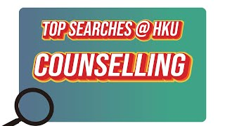 Top Searches @HKU – Counselling