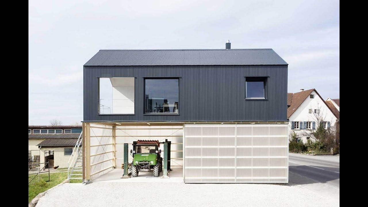 Modern Unique House On Top Of Garage Workshop Youtube