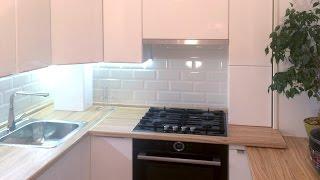Белая кухня с подоконником в хрущевке 5 кв метров — Кухня на заказ(, 2016-11-09T20:00:37.000Z)