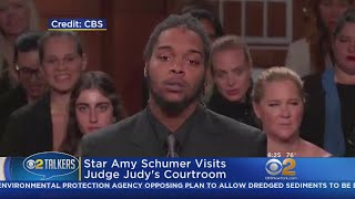 Star Amy Schumer Visits Judge Judy's Courtroom