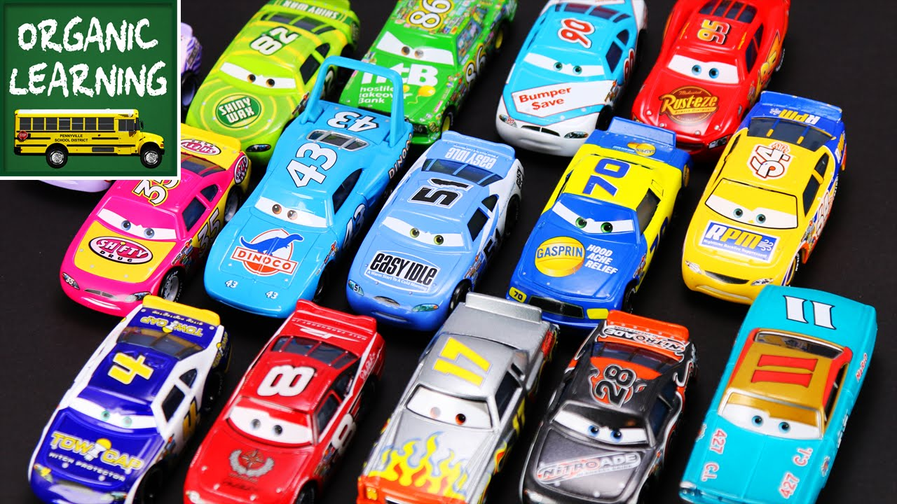 Kids Disney Pixar Cars Teaching Numbers Lightning Mcqueen