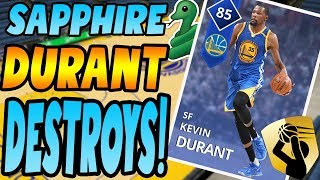 NBA 2K18 MYTEAM SAPPHIRE KEVIN DURANT GAMEPLAY HIGHEST POINTS OF THE YEAR