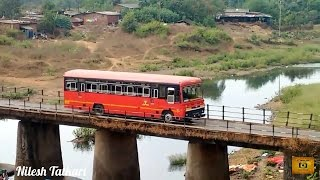 MSRTC BUSES OVER BRIDGE | CHIPLUN | RATNAGIRI | KONKAN | MAHARASHTRA