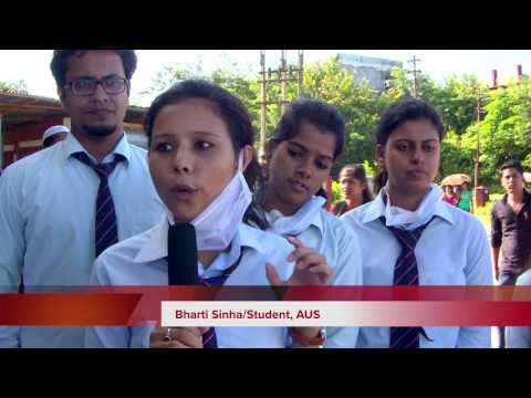 """News Story on """" Clean & Green Campus"""" Assam University"""