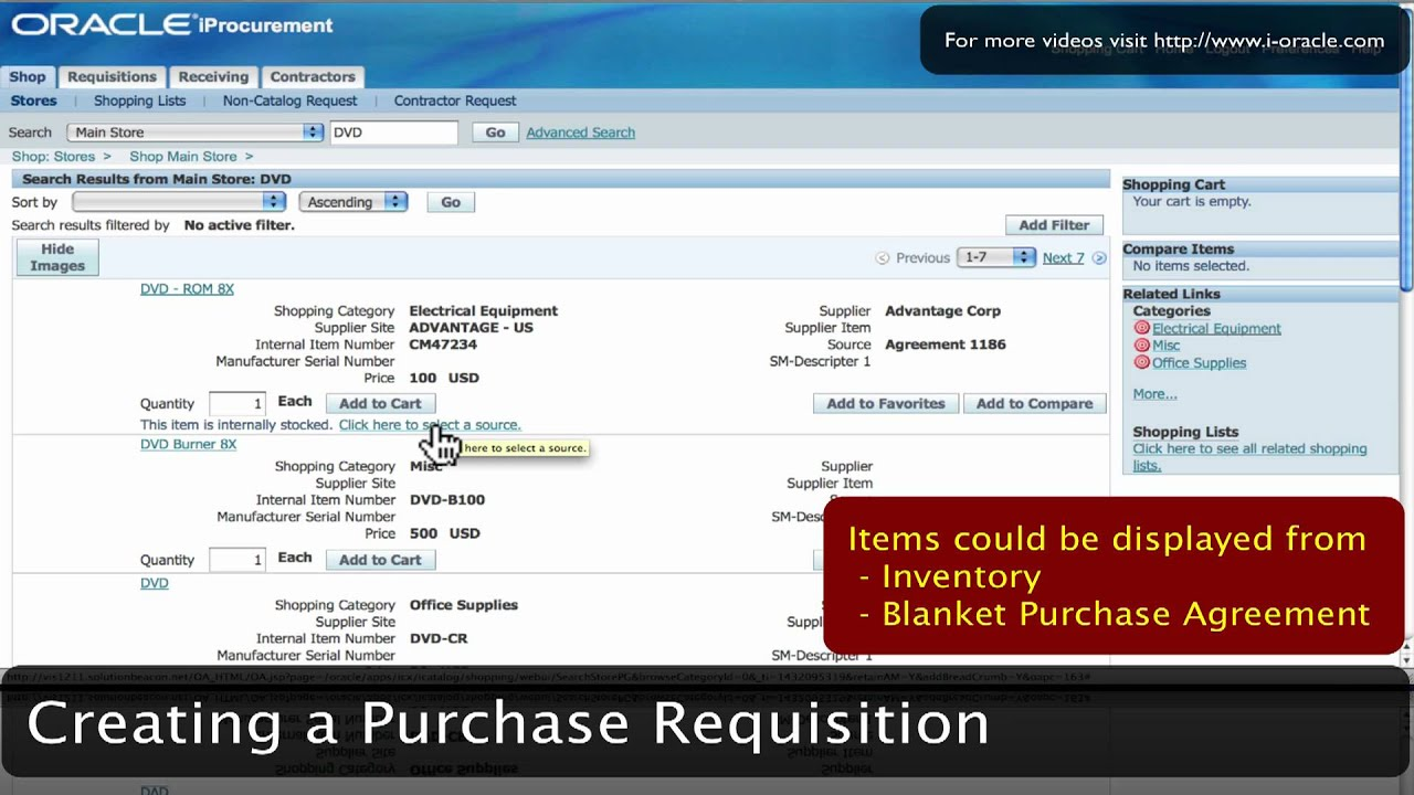 Oracle Training - iProcurement in Oracle E-Business Suite R12 (1080p - HD)