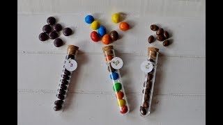 Info: Ideen zum Füllen der Süßigkeitenröhrchen