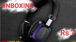 UBON BT-5750 light up headphone UNBOXING and review after 8 days used Best Bluetooth under 1500