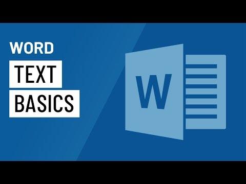 Word 2016: Text Basics