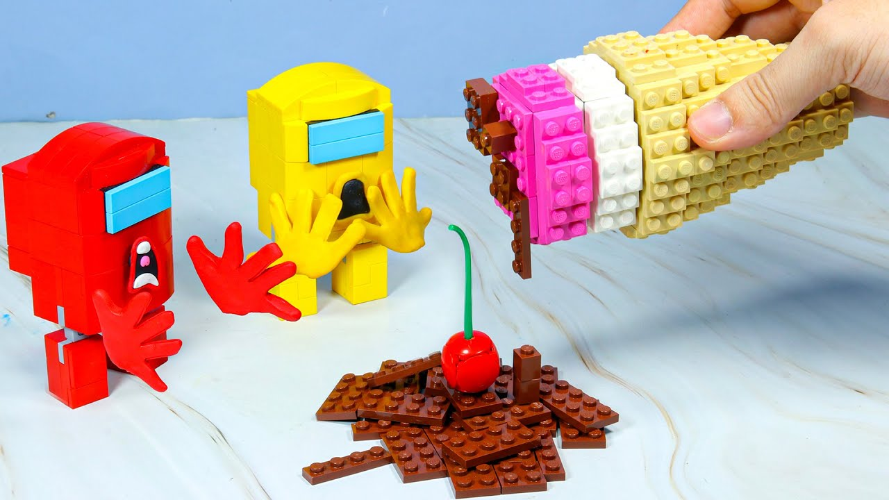 LEGO AMONG US But They Need Ice Cream - Stop Motion Animation ASMR