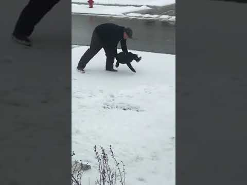 South Florida's First News w Jimmy Cefalo - Dad Tries To Teach Toddler How To Make Snow Angels