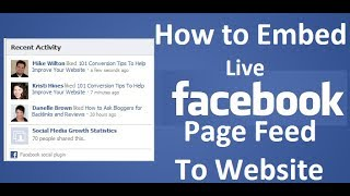How to Embed Live Facebook Feed to Your Website