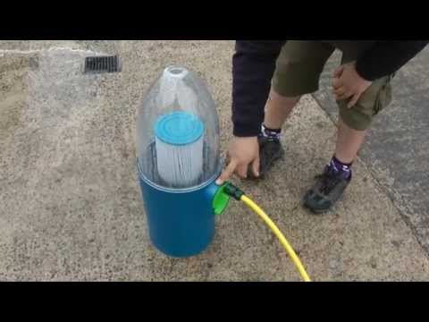 Cleaning your Hot Tub Filters with The Estelle Filter Cleaning System
