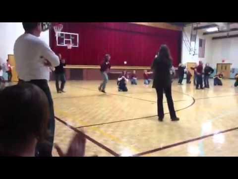 Omro High School staff flash mob part 2