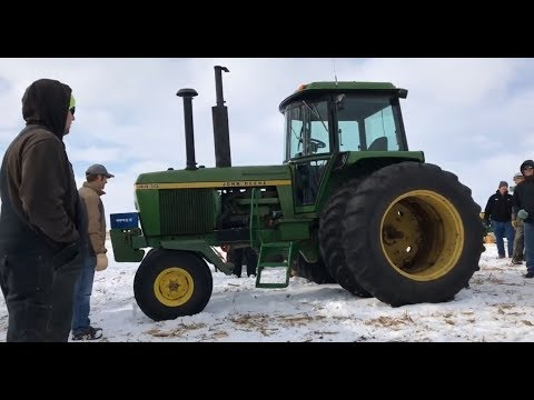 1976 John Deere 4430 with 6449 Hours Sold for $22,000 on Iowa Farm Auction Last Week