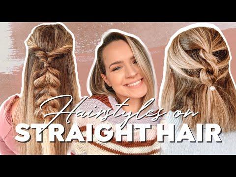 Hairstyles for Straight Hair + Heatless Hairstyles - Kayley Melissa - YouTube