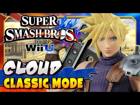 CLOUD OP! | Super Smash Bros. for Wii U - Classic Mode [1080p, 60fps]