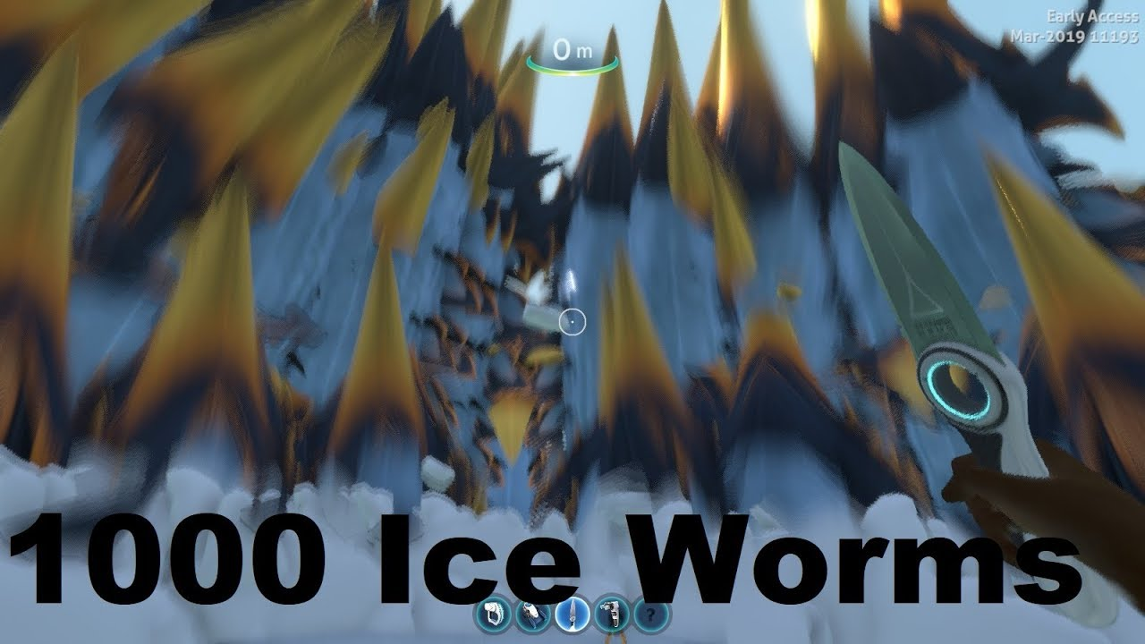 Spawning 1000 Ice Worms in Subnautica Below Zero