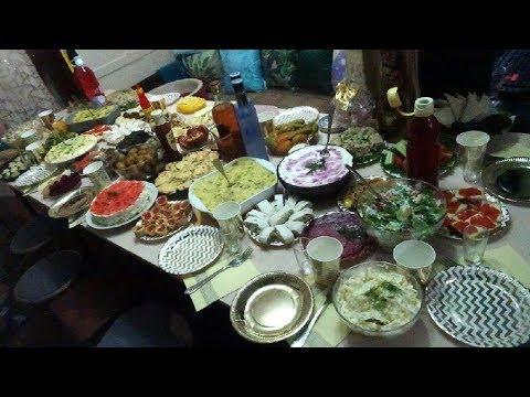 Праздничный стол на день рождения /Праздничное меню