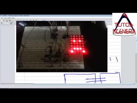 manejar matriz led con 2 registros de desplazamiento y arduino