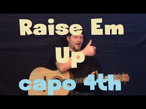 Raise Em Up (Keith Urban) Easy Guitar Lesson How to Play Tutorial Strum Chords Capo 4th