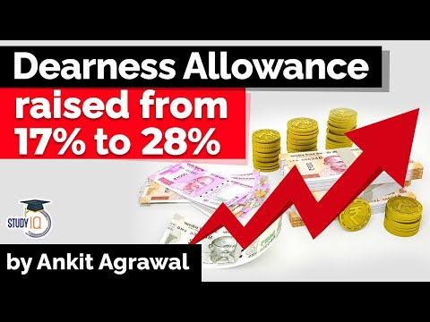 Dearness Allowance for Central Government employees hiked from 17% to 28% - Economy Current Affairs