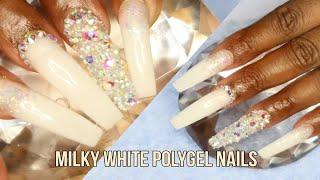 DIY Milky White Polygel Nail Tutorial