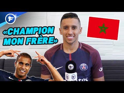 """L'interview """"champion mon frère"""" de Marquinhos (Maroc, Lucas, Serge Aurier)"""