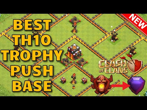 New 2019 TH10 Trophy Pushing Base |Th10 Trophy Saving Base | Clash of clans