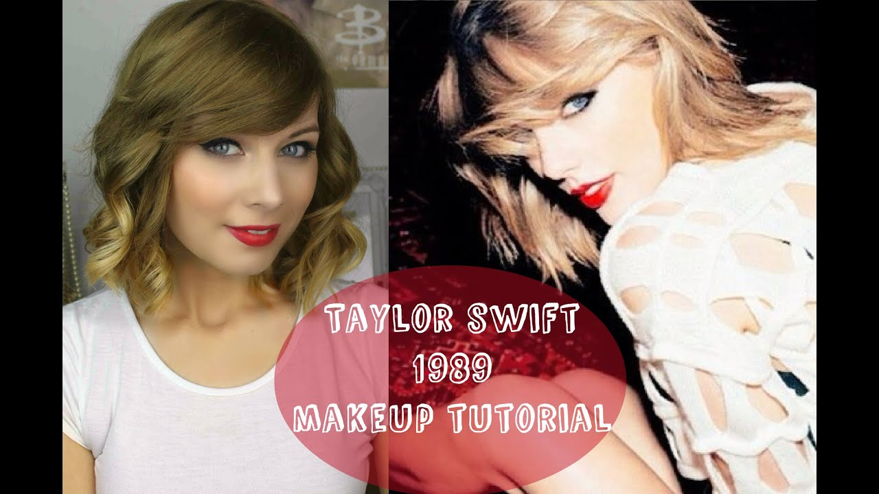 taylor swift 1989 make up tutorial rebecca smile youtube