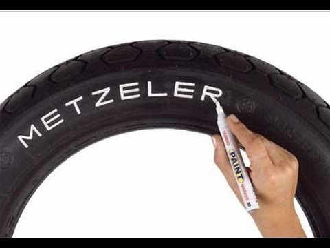 Как сделать белые буквы на шинах - YouTube