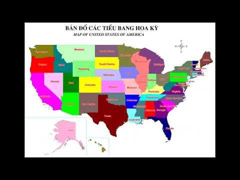Các tiểu bang Hoa Kỳ - Mỹ || Map of United States of America