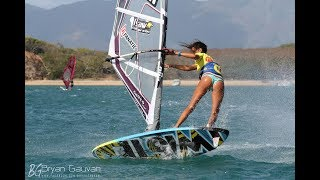 AMADO VRIESWIJK, SARAH-QUITA OFFRINGA and ANTOINE ALBEAU in PWA Fuerteventura Grand Slam