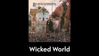 Black Sabbath - Wicked World (lyrics)
