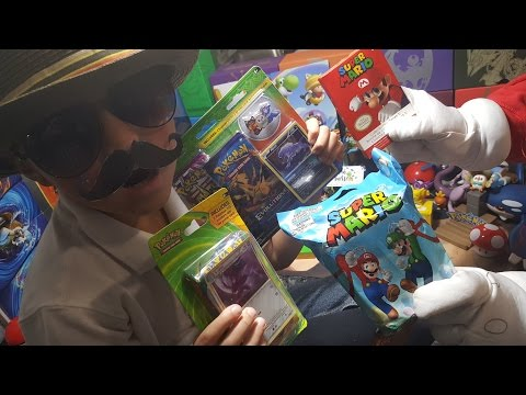 Super Mario & Carl Opening Pokemon Cards and Mario Stuff! TH