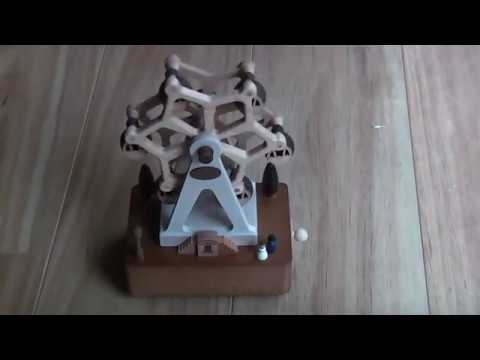 Wooderful Life Wooden Ferris Wheel Music Box Unboxing and Demo