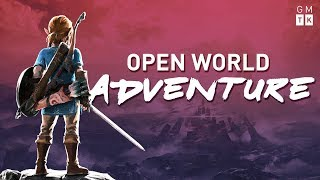 So The Legend of Zelda Breath of the Wild is an open world game In this video I look at how Nintendo used and ignored different bits of open world design to