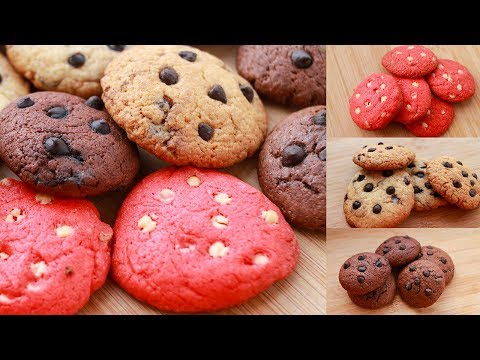 3 EASY COOKIES RECIPE I EGG-LESS & WITHOUT OVEN