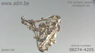 08274-4205 Late Victorian rose cut diamond brooch and pendant Adin Antique Jewelry.mp4