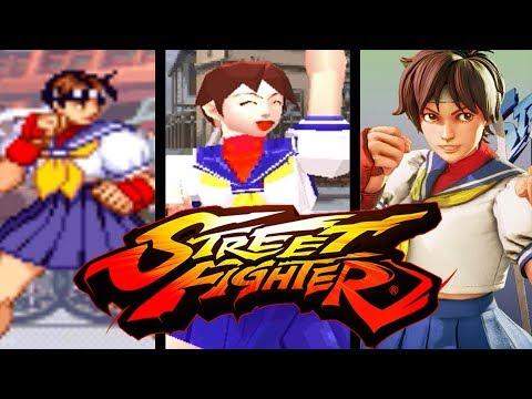 Sakura Kasugano [Street Fighter] EVOLUTION (1996-2018)