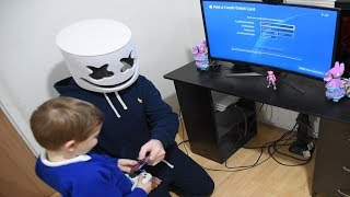 Marshmello Gives *5 YEAR OLD KID* 5,000 V-Bucks To Buy 'WILD CARD' (Fortnite)