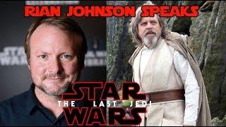 Rian Johnson explains Luke Skywalker & the end of Star Wars The Last Jedi.