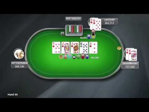 3 Great Hands with Jason Mercier in SCOOP 2015 Event 20-H | PokerStars