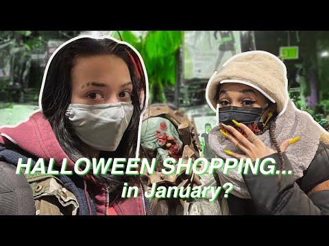 Halloween Shopping in January?? || Lesbian Couple