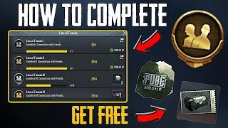 HOW TO COMPLETE LOTS OF FRIENDS ACHIEVEMENT IN PUBG MOBILE ??