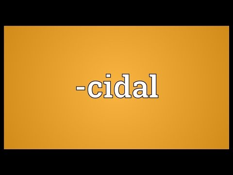 -cidal Meaning