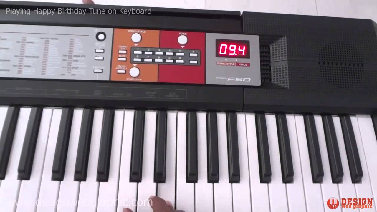 playing happy birthday tune on keyboard happy birthday. Black Bedroom Furniture Sets. Home Design Ideas
