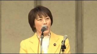 田村智子衆議院議員 2・10建設労働者春闘決起集会 2012年2月10日.