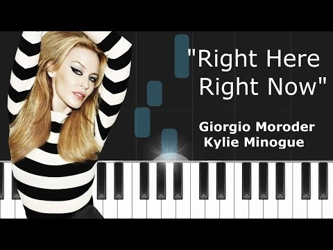 Giorgio Moroder   Right Here Right Now ft  Kylie Minogue Piano Tutorial