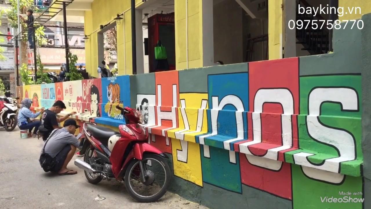 Những Con Hẻm Nổi Bật Tại TpHCM – Vẽ Tranh Tường – Phong Cách Cổ Trang Trí Cho Quán Cafe