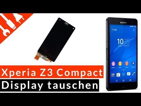 SONY XPERIA Z3 COMPACT Display wechseln tauschen | günstige DIY Reparatur von kaputt .de